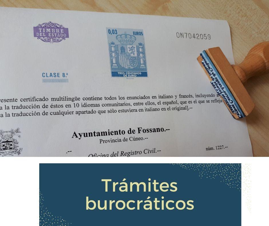 Enlace de acceso a trámites burocráticos